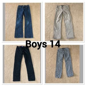 Other - Boys 14 Pants Lot Of 4 Pair